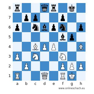 Stellung von Phileas (mit Schwarz) in der letzten Runde
